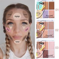 Cmaadu Neue Natürliche 6 Color Corrector Foundation Concealer Gesicht Make-Up Erhellen Feuchtigkeitscreme Poren Abdeckung Contour Concealer Palette