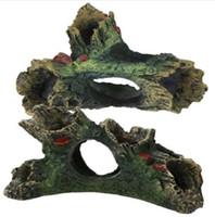 1 Pcs Tanque De Peixes Ornamentos Decoração de Paisagismo Driftwood Artificial Não Aquário Tóxico Aquário Resina Decoração