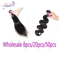 Wholesale 8 20 50 pcs Bundles Virgin Straight Body Wave huma...