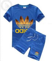 Kids Sets 2- 7T Children T- shirts And Shorts Pants Kids Track...