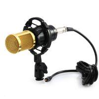 Sovo Yeni BM 800 Bilgisayar Mikrofon 3.5mm Kablolu Kondenser Ses Mikrofon Kayıt için Sutyen Dağı ile Sutyen