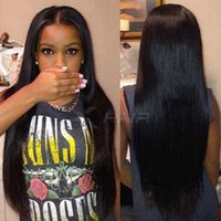 Lace Front Wigs Glueless Straight Virgin Peruvian Hair Full ...