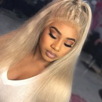 #613 Silk Base Full Lace Wigs With Baby Hair Brazilian Virgi...
