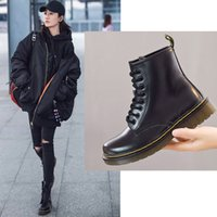 2018 New England Style Women Martin Boots autumn winter genu...