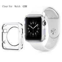 3D touch ultra claro macio tpu capa bumper apple watch series 4 3 2 protetor de tela 38mm / 42mm / 40mm / 44mm para a apple watch 4 casos
