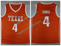 Texas Longhorns   4 Mohamed Mo Bamba Naranja Collge Jersey de baloncesto  Hombre cosido Envío rápido dab174e1c