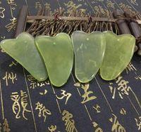 Natural Gua Sha Placa Verde Jade Pedra Guasha Cura Ferramenta de Massagem Acupuntura Rosto Corpo Relaxamento Ferramenta de Cuidados de Saúde Beleza