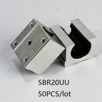 50 шт. / Лот SBR20UU SME20UU 20 мм открытого типа линейный корпус блока линейный блок подшипниковых блоков для фрезерный станок с чпу 3d части принтера