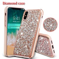 2 in 1 premium Diamond case soft TPU + hard diamond rhinesto...
