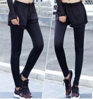Женские брюки CAPRIS Женщины поддельные 2 шт. Скинни леггинсы сетка йога бегущий тренажерный зал Фитнес брюки
