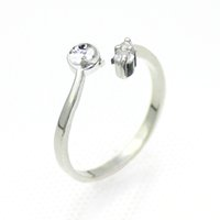 The latest simple fashion freshwater pearl silver ring, pear...