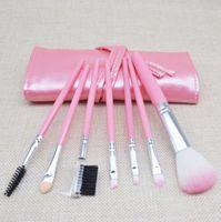 Профессиональный макияж кисти набор инструментов макияж туалетных Kit шерсть Марка макияж кисти набор с PU кожаный мешок