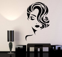 Girl Face Wall Decal Removable Wallpapers for Beauty Salon r...
