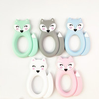 Large Silicone Fox Teether Teething Baby Toys BPA Free Safe ...