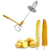 Cortador espiral de la patata Manual Spiral Screw Slicer Plástico Acero alambre Zanahoria pepino Vegetales cuchillo espiral Herramienta de cocina