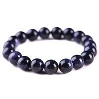 10mm Natürliches Material Energie Steine Blau Aventurin Armbänder Runde Perlen Armreif Frauen Kristall Schmuck Liebe Geschenk