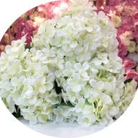 Flores artificiais Silk Hydrangea para Decoração Festival Qua Decoração Qua Corredor Flor Buquê em Branco