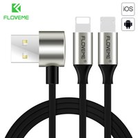 FLOVEME USB Cable For X XS Max 7 8 Plus Reversible 2 in 1 US...
