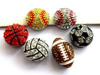 10PCS 8mm 슬라이드 매력 야구 농구 모조 다이아몬드 매력은 8mm 팔찌 팔찌 애완 동물 칼라 보석 만들기에 적합