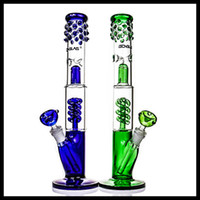 Blue Green BONGLAS Bong Bongsplash guard bongs with spiral p...