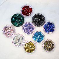 Nuevo anillo universal para teléfono móvil Lujoso anillo de soporte de globo de teléfono móvil con diamantes brillantes de pavo real verde telescópico
