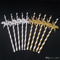 Unicorn carta paglia Unicornio Eco Friendly Dessert Cannucce Per Bar Club Partito Dscktop decorazioni dell'oro Argento Colori 6RS ZZ