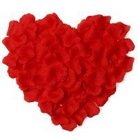 100 unids / lote Pétalos de rosa artificial para la decoración de la boda Romántico Artificial Pétalos de rosa Flor de la boda Flor de Rose