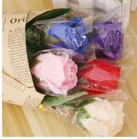 Alta vendita Singolo fiore di sapone rosa buon odore e regali creativi romantici vacanza creativa Moda
