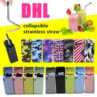 Final Straw Camouflage Skull Collapsible Reusable Straw Stai...