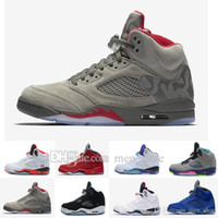 Classic 5 basketball shoes white cement black metallic red b...