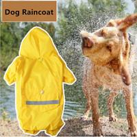 Cão pequeno capa de chuva capa de camuflagem capa para cães capa de chuva filhote de cachorro à prova d 'água pet trajes xs-xxl 4 cores