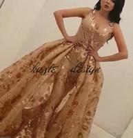 Abito da sera Yousef aljasmi Labourjoisie Overskirt Ball Gown Stampa Paillettes Floreale Lunghezza piena Dubai Arabo Occasione Prom Dress