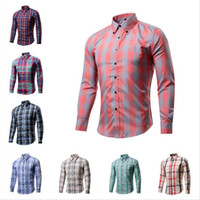 Hot sale Mens Long Sleeved Shirt Flannel Casual Plaid Shirt ...