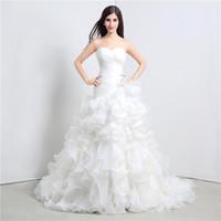 Taille personnalisée Robes élégantes blanches Renffle Sweetheart Une ligne Organza Plancher longueur Longue mariée fête mariée femmes femmes robes de mariée robes DH4204