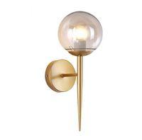 Ouro CONDUZIU a Lâmpada de Parede Candeeiros de Parede de Cabeceira de Vidro Abajur Único Luz Design Criativo Corredor Luzes Para Cabeceira Corredor luminárias iluminação