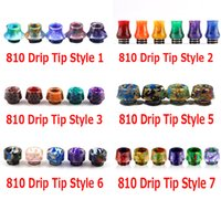 9 Styles 810 Thread Drip Tips Cone Shape Resin Snake Skin Mo...
