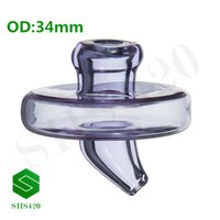 Colored Glass Bubble Carb Cap With Hole On Top For 2mm3mm4mm...