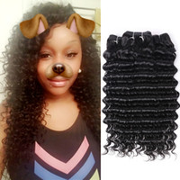 Deep Wave Brazilian Hair Weave 4 Bundles Non Remy Hair Weavi...