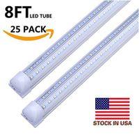 En forme de V Intégrez T8 LED Tube 2400MM 4 5 6 8 pieds Pieds LED Boutique lumière 8ft 4ft LED Tubes Lumière Cooler Porte Éclairage