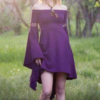 Partykleider plus Größe Mittelalterliches langes Kleid Maxi Vintage RTRO Kurzarmkleider Gothic Renaissance Damen Sommer