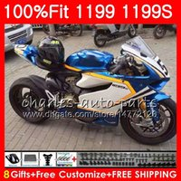 Glossy blue Injection Body For DUCATI 899 1199 S R Panigale 12 13 14 15 16 106HM.22 899R 1199R 899S 1199S 2012 2013 2014 2015 2016 Fairing