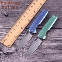 M390 Tático Flip Folding Faca de Acampamento Portátil Mini Chaveiro 61HRC Canivetes Colar de caça Ao Ar Livre Caça Ferramentas de Resgate EDC presente