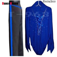 Erkek / Erkek Latin Dans Elbise 5 Renk Erkek Latin ShirtsPants Dans Cha Cha / Rumba / Samba / Balo Salonu Giyim Kostümleri Erkekler