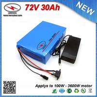 Housse en PVC 72V Lithium ion rechargeable 30Ah Li 3600W ion pour vélo électrique vélo Scooter utilisé 5.0Ah 26650 cellule 50A BMS
