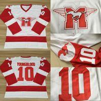 # 10 Sutton Youngblood Movie Hamilton Mustangs Hoqkey Jersey Mens Mens 100% прошитые молодые хоккейные изделия из хоккея белый бесплатная доставка