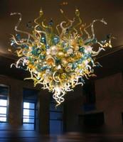 홈 웨딩 장식 판매 LED 펜던트 조명 유리 대형 샹들리에를위한 풍선 유리 호텔 샹들리에를 손수