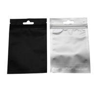8.5 * 13cm 블랙 리 클로스 Zip 잠금 클리어 플라스틱 포장 파우치 셀프 씰링 저장 패키지 가방 100pcs / lot 알루미늄 호일 지퍼 패키지 가방