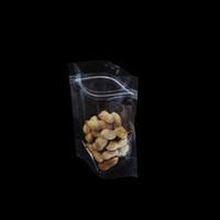 Прозрачный Resealable Zip замок Stand Up Пластиковые мешки 100pcs / 9 * 12.5cm Clear Food Grade орех Сахар конфеты термосвариваемыми DOYPACK Многократно закрывающаяся сумка