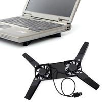 휴대용 슬림 스마트 노트북 냉각 패드 USB 팬 2 팬 쿨러 플러그 앤 플레이 노트북 PC 노트북 DHL FEDEX EMS 무료 배송