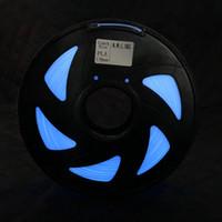 Freeshipping 3D 필라멘트 어둠 속에서 플러스 글로우 3D 프린터 용 PLA 플라스틱 필라멘트 Prusa i3 RagRap Blue Color 1.75 1KG Spool